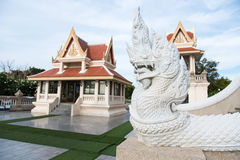 Prachuap Khiri Khan,泰国- 2017年4月, 18日:雕象白色N 图库摄影
