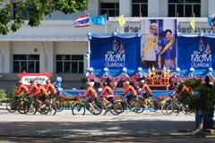 PRACHUAP KHIRI KHAN, ΤΑΪΛΆΝΔΗ - 16 ΑΥΓΟΎΣΤΟΥ: Μη αναγνωρισμένοι ποδηλάτες Στοκ Φωτογραφίες
