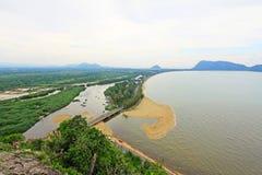 Prachuap Khiri Khan Seaside, Tailândia fotos de stock