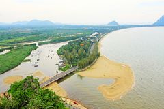 Prachuap Khiri Khan Seaside, Tailândia imagens de stock