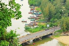 Prachuap Khiri Khan Seaside, Tailândia foto de stock royalty free