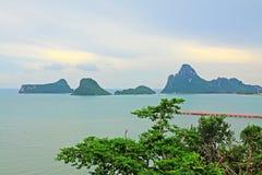 Prachuap Khiri Khan Seaside And Wharf, Tailândia foto de stock