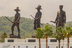 Prachuap Khiri Khan, Tailandia - 16 marzo 2017: Lo statu bronzeo Fotografie Stock