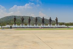 Prachuap Khiri Khan, Tailandia - 16 marzo 2017: Lo statu bronzeo Immagine Stock