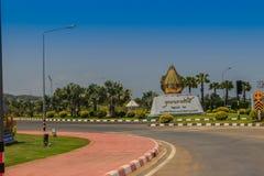 Prachuap Khiri Khan, Tailandia - 16 marzo 2017: Ro del portone dell'entrata Fotografie Stock