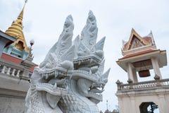 Prachuap Khiri Khan Tajlandia, Kwiecień, -, 18, 2017: Statua Biały N Obrazy Royalty Free