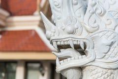 Prachuap Khiri Khan Tajlandia, Kwiecień, -, 18, 2017: Statua Biały N Zdjęcie Royalty Free