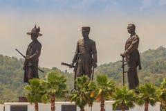Prachuap Khiri Khan Tajlandia, Marzec, - 16, 2017: Brązowy statu Obraz Royalty Free