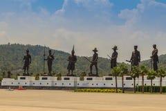 Prachuap Khiri Khan, Thaïlande - 16 mars 2017 : Le statu en bronze Photographie stock libre de droits