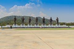 Prachuap Khiri Khan, Thaïlande - 16 mars 2017 : Le statu en bronze Image stock
