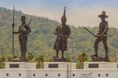 Prachuap Khiri Khan, Thaïlande - 16 mars 2017 : Le statu en bronze Photo libre de droits