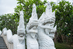 Prachuap Khiri Khan, Thailand - April, 18, 2017 : Statue White N Royalty Free Stock Image