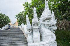 Prachuap Khiri Khan, Thailand - April, 18, 2017 : Statue White N Royalty Free Stock Images