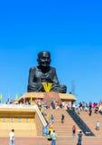 Editorail-Luang Phor Tuad Statue at Wat Huai Mongkhon. Prachuap Khiri Khan, THAILAND - May 07, 2017, Editorail use only;Luang Phor Tuad Statue at Wat Huai royalty free stock photography