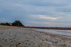 Prachuap zatoka tropikalna plaża Prachuap Khiri Khan prowincja Obraz Royalty Free
