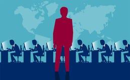 Pracodawcy dopatrywanie po pracowniczych zasobów royalty ilustracja