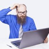 Pracować i myśleć - biznesmen (serie) Fotografia Royalty Free