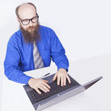 Pracować i pisać na maszynie - biznesmen (serie) Obrazy Stock