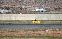 Pracować przy lotniskiem Zdjęcia Royalty Free