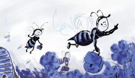 pracować pszczół Zdjęcia Royalty Free