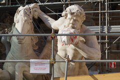 Pracować Trevi fontannę Roma Zdjęcie Royalty Free