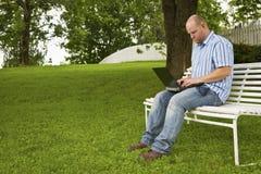 Pracować w parku Fotografia Royalty Free