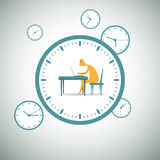 Pracować wokoło zegaru Zdjęcia Stock
