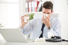 Pracować Z alergią zdjęcia royalty free