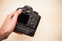 Pracować z cyfrową kamerą Fotografia Stock