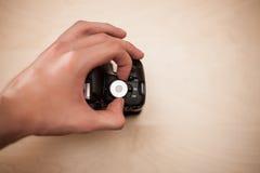 Pracować z cyfrową kamerą Zdjęcia Stock