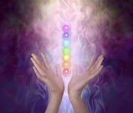 Pracować z Siedem Chakra Ważną energią Vortexes zdjęcie royalty free