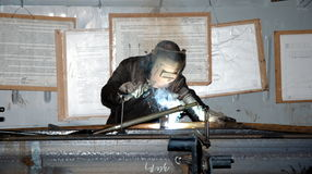 Pracować w masce Fotografia Stock