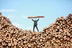 Pracowity biznesowy mężczyzna - metafora Obrazy Royalty Free