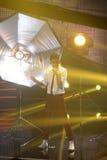 Pracowniani światła reflektorów i wystrój, muzyka na żywo TV przedstawienie Zdjęcie Royalty Free