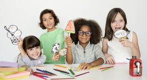 Pracowniani ludzie modela krótkopędu dzieciaka dzieci Fotografia Royalty Free