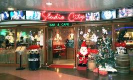 Pracowniany miasto bar, kawiarnia w Hong kong i Obrazy Stock