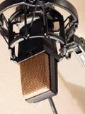 Pracowniany mikrofon Zdjęcia Royalty Free