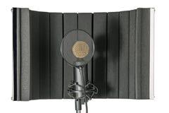 Pracowniany mikrofon i osłona na mic stojaku Zdjęcia Royalty Free