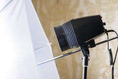 Pracowniany oświetlenie Wizerunek pracowniany światło Duży kamera błysku światło zdjęcie stock