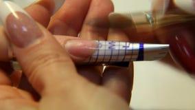 Pracowniany piękno Żeński ręka gwoździ manicure'u zakończenie up zbiory