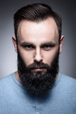 Pracowniany portret elegancki brodaty mężczyzna; Fotografia Royalty Free