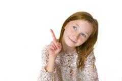 Pracowniany portret jedenastoletnia atrakcyjna dziewczyna Fotografia Royalty Free