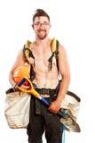 Pracowniany portret męski drzewny plantator odizolowywający na bielu Fotografia Royalty Free