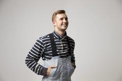 Pracowniany portret Męski pracownik W Morskim przemysle Zdjęcie Royalty Free