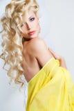 Pracowniany portret oszałamiająco piękno blondynka zdjęcia stock