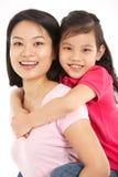 Pracowniany Strzał Chińczyka Matka I Córka obraz stock