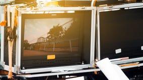 Pracowniany strzelanina set, Telewizyjny studio Zdjęcie Royalty Free