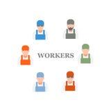 pracownicy royalty ilustracja