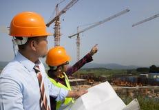 Pracownicy budowlani Obraz Royalty Free