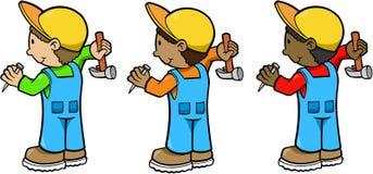 pracownicy budowlani Fotografia Stock